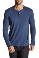 Velvet by Graham & Spencer Long Sleeve Henley Tee
