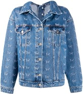 MSGM Youth embroidery denim jacket