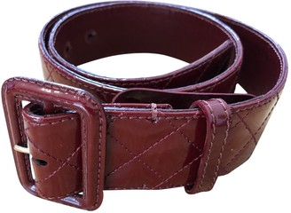 Burberry Burgundy Patent leather Belts