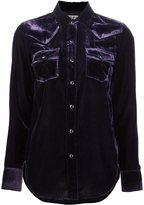 Saint Laurent velvet long sleeve shirt