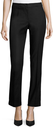 Nic+Zoe Petite The Perfect Front-Zip Ankle Pants Onyx