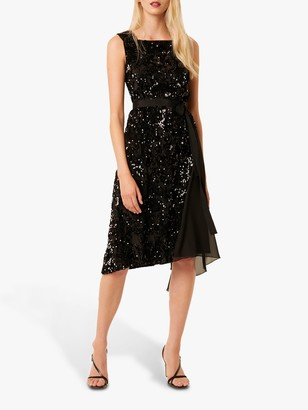 French Connection Eano Sequin Dress, Black