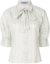 Prada pussy bow blouse