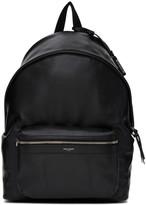 Saint Laurent Black Leather City Backpack