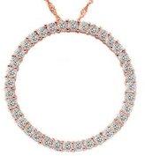 Pompeii3 Inc. 2ct Circle Diamond Pendant 14K Rose Gold