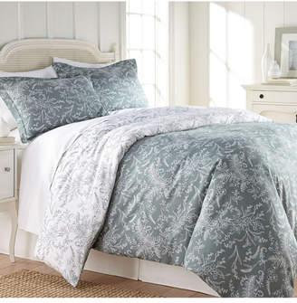 Southshore Fine Linens Winter Brush Reversible Floral Duvet and Sham Set, Twin/Twin Xl Bedding