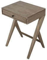 Noir Peter End Table with Storage Color: Washed Walnut