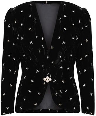 Kith & Kin Black Velvet Jacket With Shiny Touch