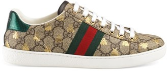 Gucci New Ace Logo Sneakers With Bee