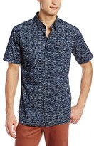 Ecko Unlimited Men's Striated Short Sleeve Popover Woven Shirt