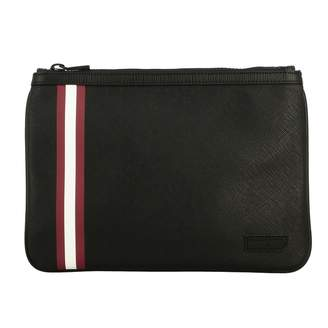Bally Briefcase Bex.md.of Clutch Bag In Saffiano Leather With Striped Band