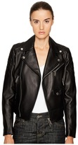 DSQUARED2 Lamb Leather Bonded Leather Biker Kiodo Women's Coat