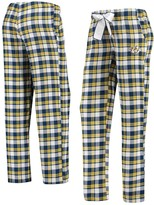 Unbranded Women's Concepts Sport Navy/Gold Nashville Predators Piedmont Flannel Pants