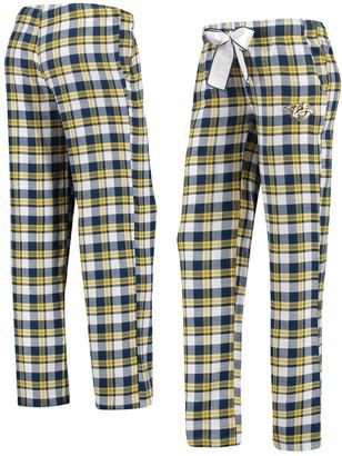 Women's Concepts Sport Navy/Gold Nashville Predators Piedmont Flannel Pants