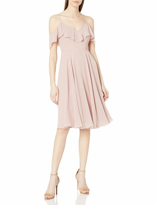 Jenny Yoo Women's Kelli Off The Shoulder Short Chiffon Dress