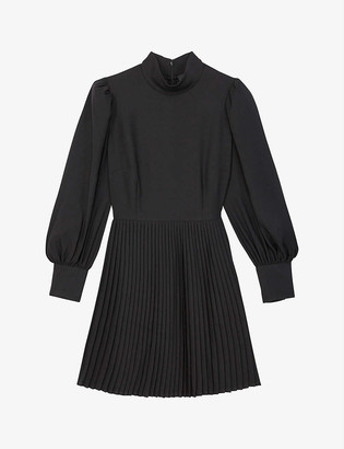 The Kooples Pleated woven mini dress