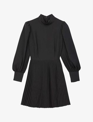 The Kooples Pleated woven mini dress