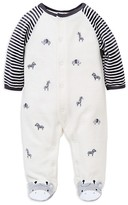 Little Me Infant Boys' Safari Velour Footie - Sizes 3-9 Months