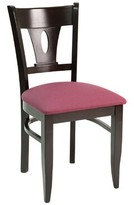 CON Series Upholstered Dining Chair Florida Seating Color: Dark Mahogany, Upholstery Color: American Beauty Red