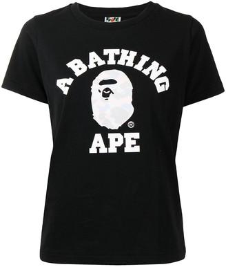 A Bathing Ape logo-print short-sleeve T-shirt