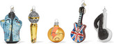 Bombki - Little Rockstar Set Of Five Glass Baubles - Neutral
