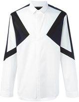 Neil Barrett colour block shirt