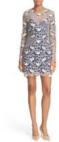 Self-Portrait Lace Patchwork Minidress