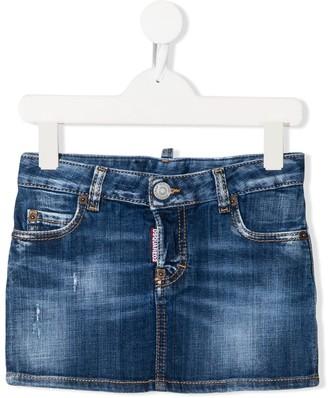 DSQUARED2 Stonewashed Denim Skirt