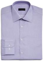 Ike Behar Small Textured Window Check Regular Fit Dress Shirt