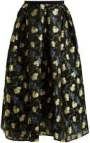 Erdem Ina floral organza fil coupé skirt