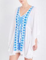 Melissa Odabash Isabelle embroidered woven kaftan