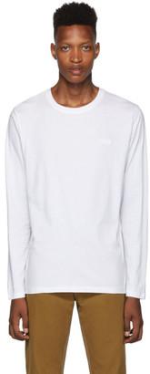 HUGO White Dero194 Long Sleeve T-Shirt