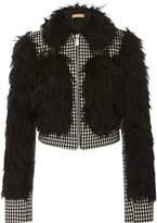 Michael Kors Mohair Lamb Trim Jacket