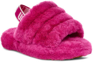 UGG Fluff Yeah Shearling Sandal Slippers, Kids