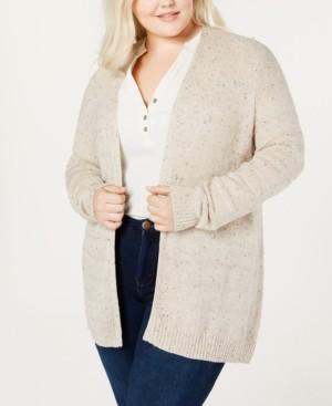 Belldini Belle by Plus Size Open-Front Cardigan