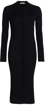 The Row Aleta Merino Wool & Silk Long-Line Cardigan