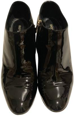 Sergio Rossi Black Patent leather Boots