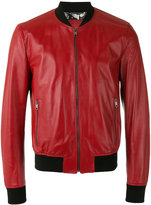 Dolce & Gabbana perforated bomber jacket - men - Calf Leather/Silk - 46