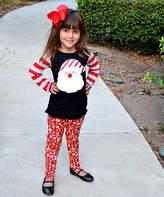 Beary Basics Red & White Stripe Santa Top & Leggings - Toddler & Girls