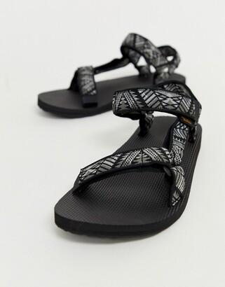 Teva Original Universal tech sandals in black print