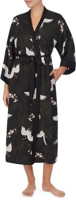 Shady Lady Print Long Robe