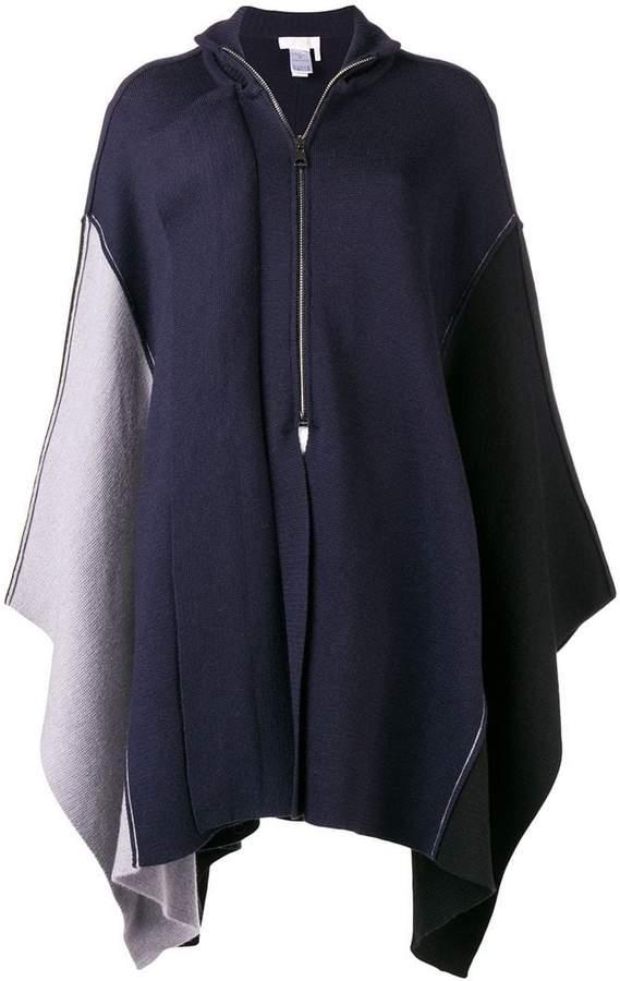 Chloé asymmetric zip-up poncho