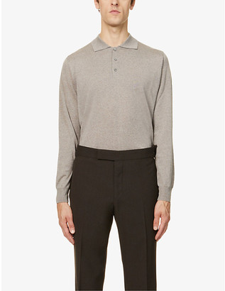 Canali Slim-fit wool polo jumper