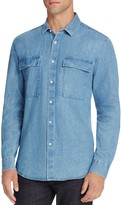 Barney Cools Worker Chambray Slim Fit Button-Down Shirt