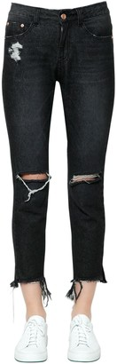 SteveJ & YoniP Destroyed Cotton Denim Jeans