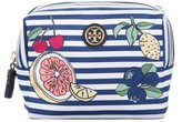 Tory Burch Striped Cosmetic Bag