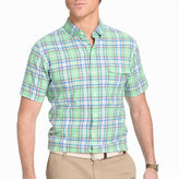 Izod Short-Sleeve Chambray Woven Shirt