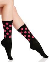 Hue Fuzzy Dot Jeans Socks