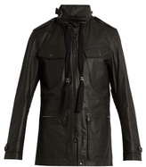 Lanvin Hooded Leather Jacket