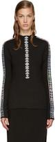 Peter Pilotto Black Band Mock Neck Sweater